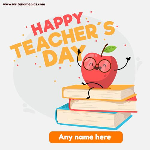 Create world teachers day greeting cards online free