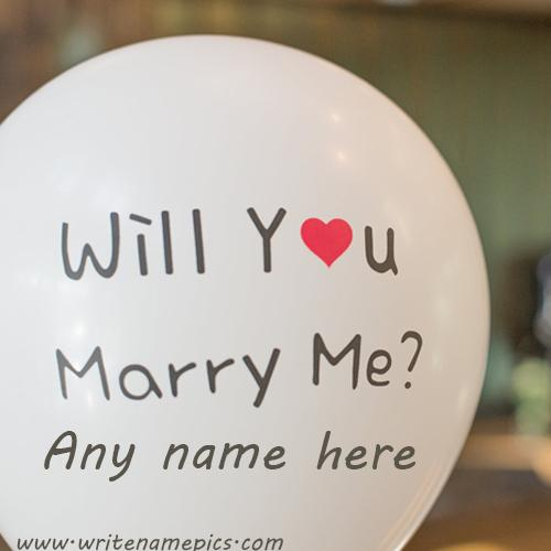Will you marry me wishes card with name