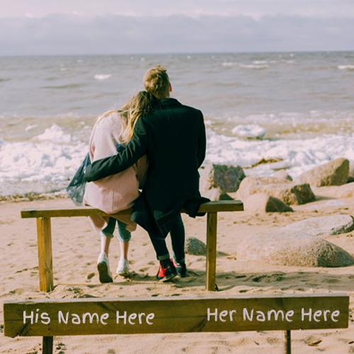 Write Couple Name In Beautiful lovely couple pics