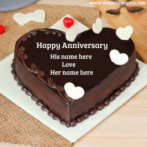 Write Couple Name on Happy Marriage Anniversary Pictures