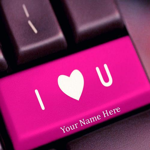 Write Love You On Keyboard