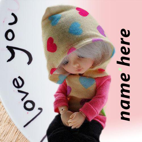 Write Name On Cute Doll Pictures
