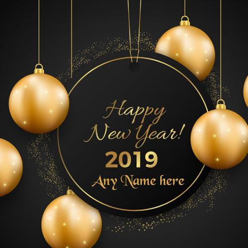 Write Name On Happy New Year wishes 2019 Images