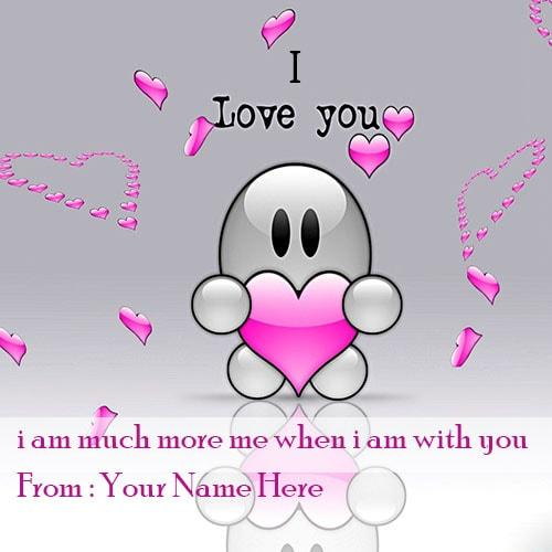 Write Name On I Love You Picture With Name
