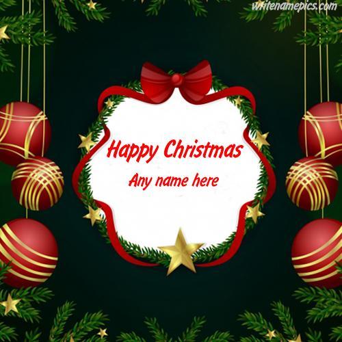 Write Name On Merry Christmas with Name