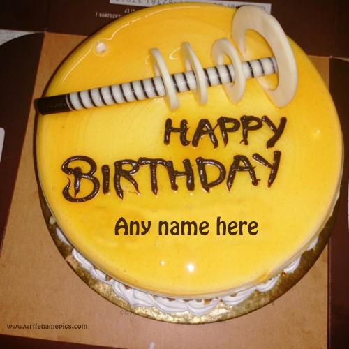 Write name on Amazing Birthday cake for your Sister and brother
