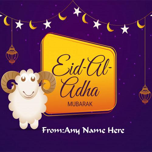 Write name on Eid ul adha 2018 wishes pictures