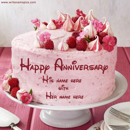anniversary cake with name editor online free