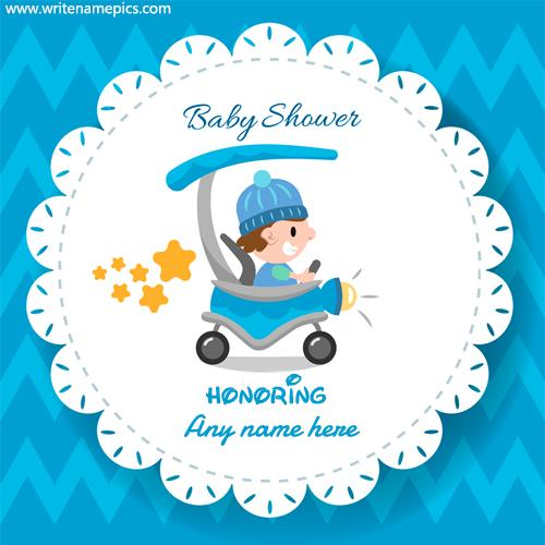 baby shower invitation cards with name