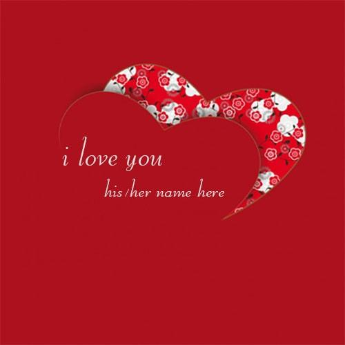 Love Wallpaper With Edit Name : beautiful i love you heart images name edit