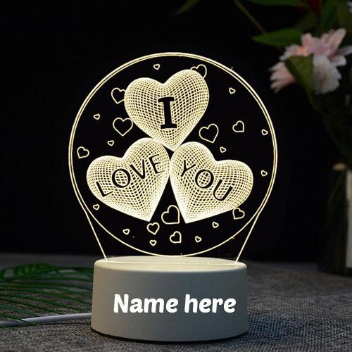 beautiful i love you wishes showpiece with name pic
