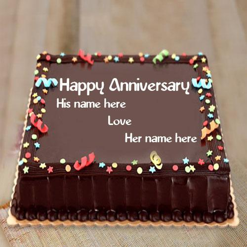best happy anniversary wishes chocolate flavour cake images