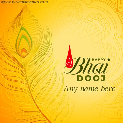 bhai dooj greeting card pic with name for free edit