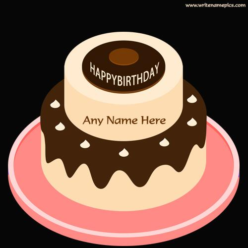 birthday chocolate cake images with name editor