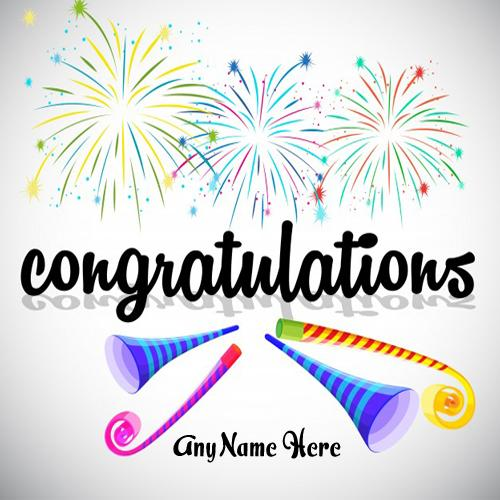 business congratulations wishes greetings card with name