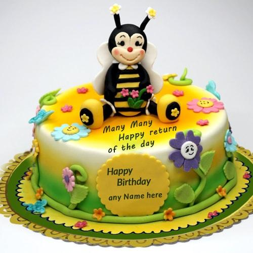 Cartoon Birthday Cake Images With Name : Write Name On Happy Birthday Cakes and Cards wishes