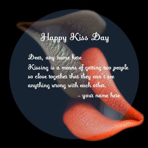 couple name kiss day lip kissing quotes images