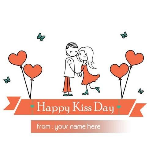 cute boy girl kissing kiss day wishes