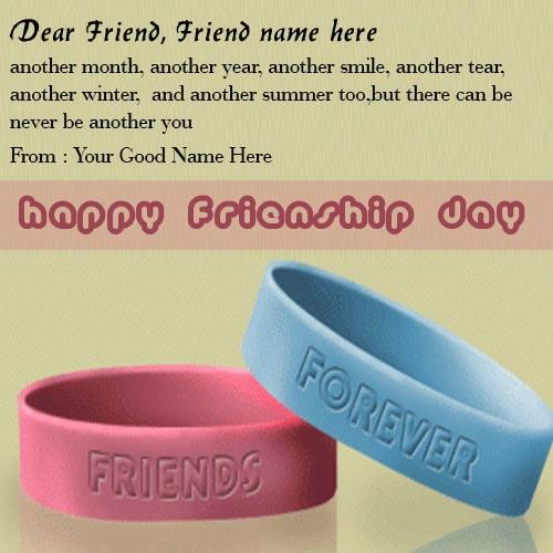 friendship day greeting cards with name edit