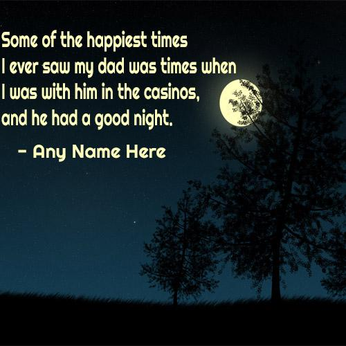 good Night wishes quotes images with name pic for free download