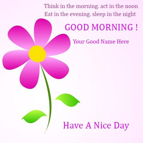 good morning greeting cards wishes with think quotes pics