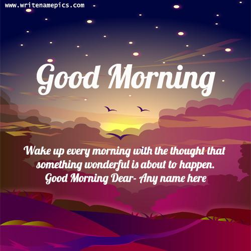 good morning quotes card with name edit
