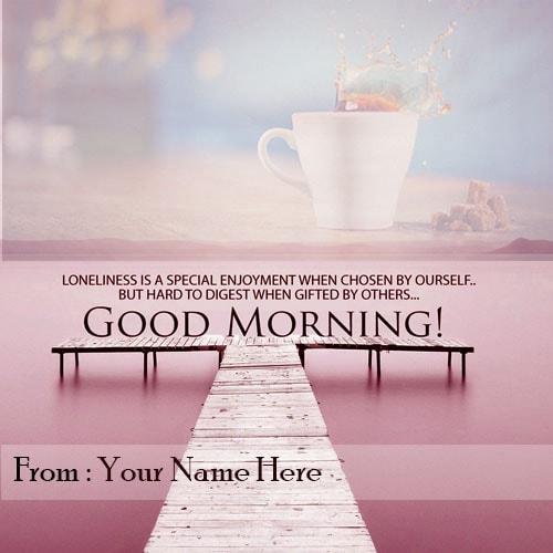 good morning wishes quotes with name editor