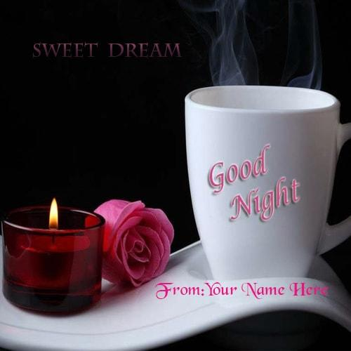 good night quotes greetings card images with name edit