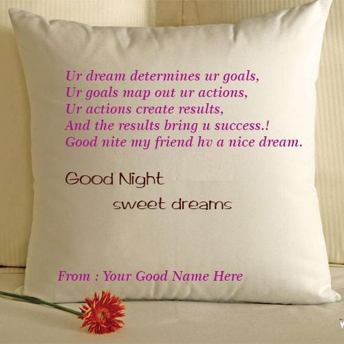 good night sweet dreams wishes images with name edit