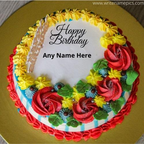 happy birthday cake with name download