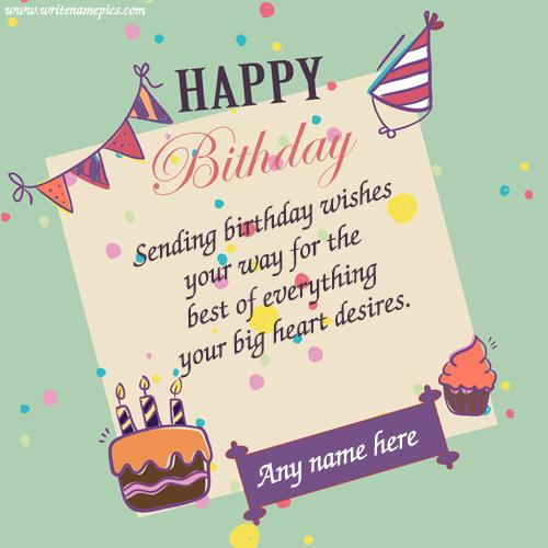Birthday Card With Name.Happy Birthday Wishes Cards With Name Images For Free