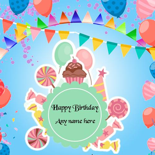 happy birthday card with name