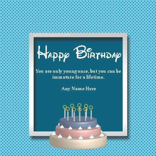 Groovy Happy Birthday Wishes Cards With Name Images For Free Personalised Birthday Cards Paralily Jamesorg