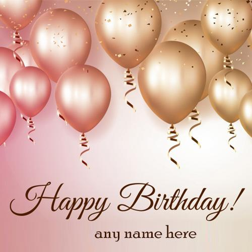 happy birthday wishes balloons greeting cards with name pictures