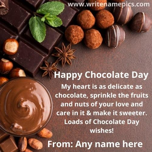 happy chocolate day 2021 greetings with name