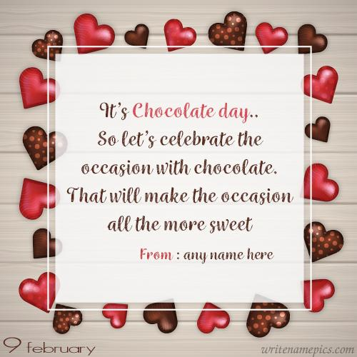 happy chocolate day wishes quotes with name pic