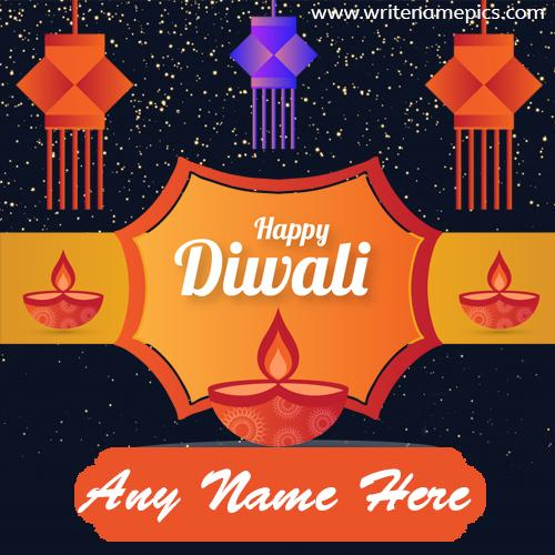 happy diwali 2020 greeting card with name
