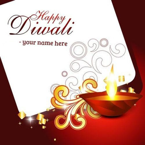 happy diwali whatsapp profile pic with name editing