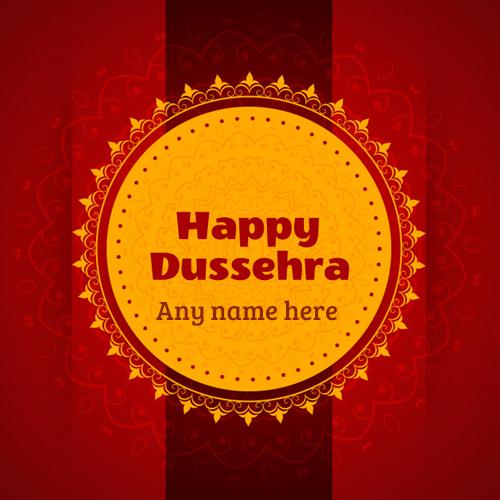 happy dussehra 2019 wishes card with name