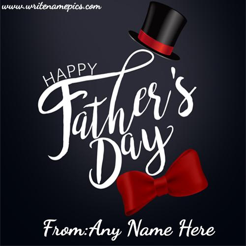 happy fathers day wishes image with name
