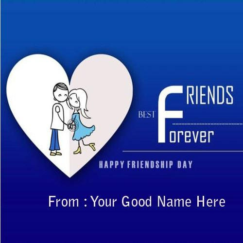 happy friendship day wishes images with name editor
