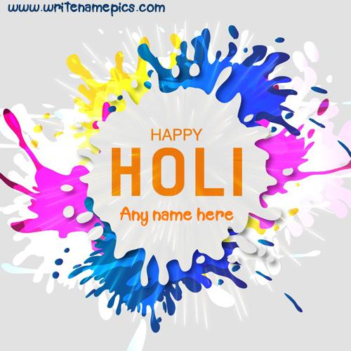 happy holi wishes wishes card name