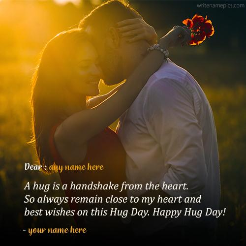 hug day wishes quotes with name pic