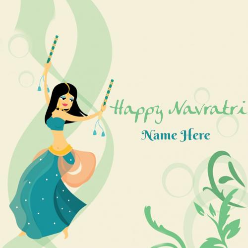 happy navratri 2018 wishes greeting cards with name