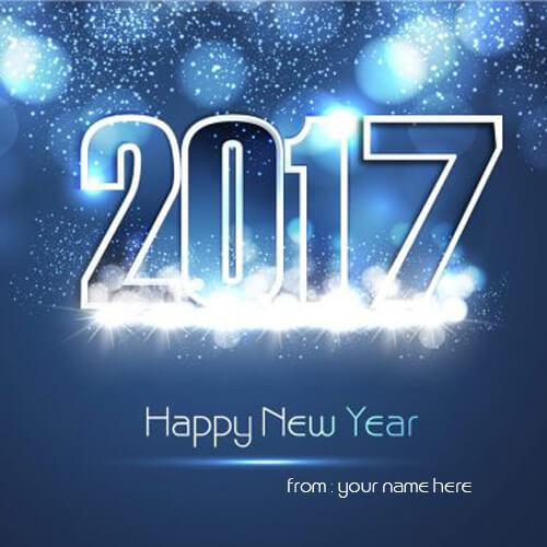 happy new year 2017 wishes with name editing