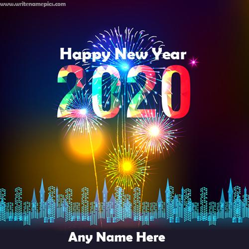 happy new year greeting card of 2020