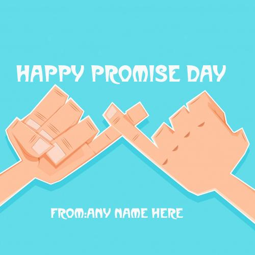 happy promise day wish greetings card with name