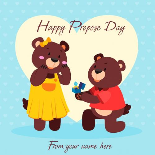 happy propose day with name pic edit