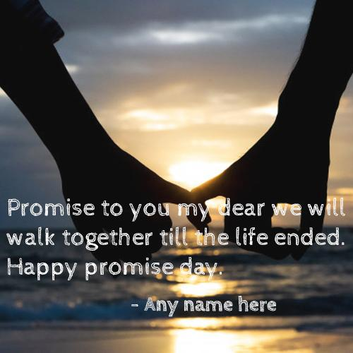 happy promise day wishes greeting card with name images
