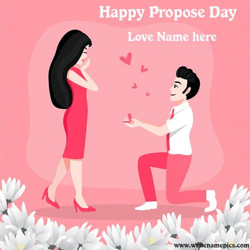 happy propose day 2020 card with name pic